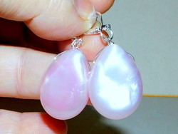 Rózsaszínű Gyöngyházfény Csepp Gyöngy Fülbevaló
