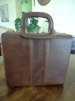 Táska antik fodrász bőr táska 33x11x30+fül 11 cm bőrrel bélelt