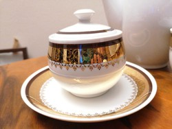1945 előtti, 4 személyes cseh porcelán teás/kávéskészlet nagyon szép állapotban