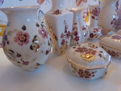 8 db Zsolnay porcelánok csomag