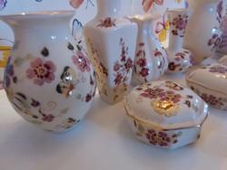 9 db Zsolnay porcelánok csomag