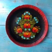 Szép virágmintás Gránit falitányér