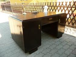 Antik, jó állapotú, térbe rakható, angol fiókos Art Deco íróasztal kb.1930 Bp-n Ingyen Szállítással*