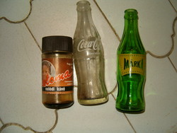 Régi 3 db coca cola márka paloma kávés üveg doboz retró italos üveg 80 s évek szocreál kádár