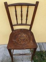 Thonet szék a múlt század elejéről eladó!Ülő lapján, gyönyörű mintával.