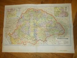 Régi nagy magyarország térkép  XV században 41x29cm