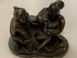 Japán bronz szobor  erotikus jelenet