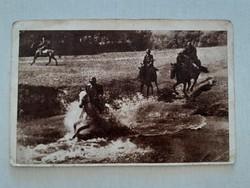 Régi fotó 1951 lovas katona fénykép képeslap