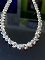 Ragyogó ezüst nyaklánc-nyakék