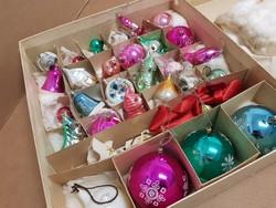 Régi üveg karácsonyfa díszek