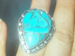 Türkiz köves ásvány Gyűrű 8-as