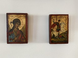 Certifikációval ellátott fára festett bizánci témájú ikonképek 3db