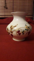 Pajzspecsétes, Zsolnay, sorszámozott, kézzel festett porcelán váza