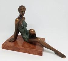 """Czobor Sándor """"Vali"""" c. bronzszobor, eredetiségigazolás, ingyen posta"""