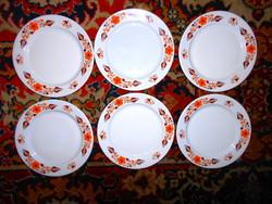 6 db Alföldi  retro vastag porcelán  tányér (600 Ft/db)