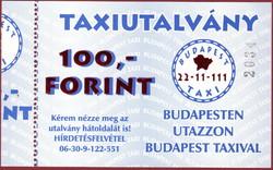 Budapest Taxi utalvány