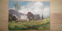 Olajfestmény Erdélyi tájkép, festmény.