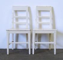 1D466 Régi két darab stabil vintage fenyő szék