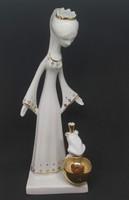 AQUINCUMI porcelán békakirály, hibátlan, jelzett