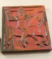 Szignált kerámia falikép 519