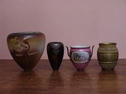 Petróleum lámpa lámpatestek vagy fajansz vázák