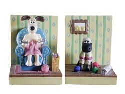 Wallace and Gromit Book Ends / Könyvtámasz