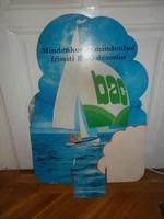 Régi retró bac dezodor kétoldalas vastag kartonpapír reklám plakát 70 es évek,