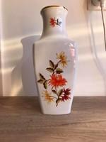 Hollóházi porcelán szegfűs váza 31 cm magas