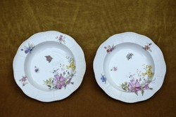 Antik herendi mély tányér , tál 2 darab Desz 19. század vége 23 x 4,5 cm