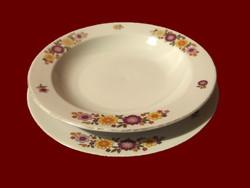 Virág mintás alföldi porcelán leveses mély és lapos tányér pótlásnak
