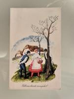 Régi húsvéti rajzos képeslap