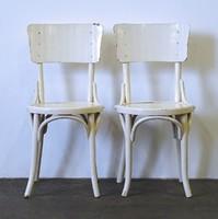 1D463 Antik Thonet jellegű fehér szék pár