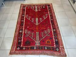 Szignózott félantik qashqai 102x158 kézi csomózású gyapjú perzsa szőnyeg KZM_406