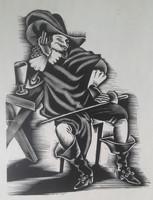MOLNÁR C. PÁL: Cyrano de Bergerac 30 db fametszet (francia irodalom, könyvillusztráció grafika)