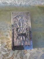 Szivartartó antik ezüst ötvösremek.