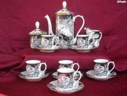 Szász Endre hollóházi porcelán kávéskészlet (Adria)