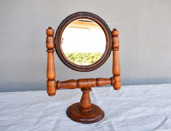Vintage fa asztali tükör