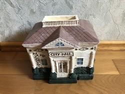 Exclusive Ház formájú - LAVAZZA feliratú kávétartó / cukortartó - leszedhető tetővel