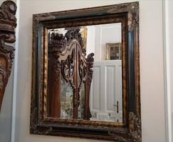 Fazettált tükör, díszes, klasszikus, festett keretben