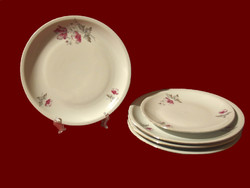 4 db virág mintás alföldi porcelán nagy lapos tányér + 1 sütis ajándékba