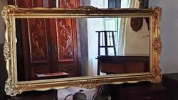 Arany keretes régi nagy, blondel rámás, gyönyörű tükör. 70 x 140 cm. cm. (1.)