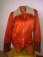 Valódi bárány bőr irha szőrme betétekkel márkás luxus női kabát dzseki 60 ezres töredék áron