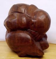 Keserűség. Indonéz természetes keményfa szobor egzotikus ritkaság.