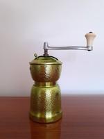 Retro fém daráló zöld konyhai örlő kávédaráló