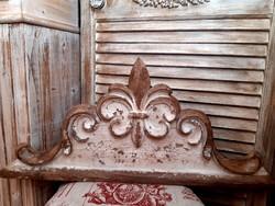 ÚJ! Shabby Chic Antique liliomos bútordísz/fali dekoráció 61x27cm