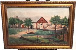Ismeretlen festőművész – Átépülő gazdaság című festménye – 81.