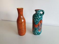 Régi retro 2 db kerámia váza mid century