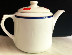 Csehszlovák -EPIAG- márkájú Tea kiöntő,kézzel festett