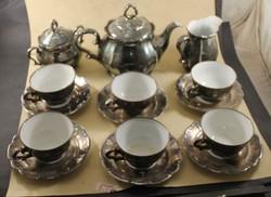 Jelzett ezüstözött teás készlet 528