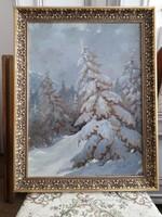 Sóskúti szignózott galériás festmény